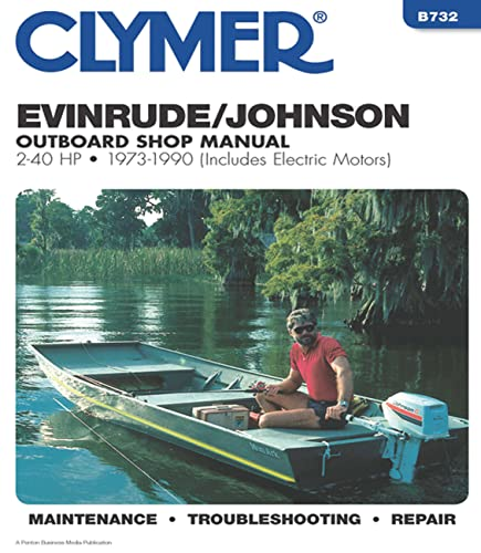 9780892875542: Evinrude/Johnson 2-40 HP OB 73-1990 (Clymer Marine Repair Series)