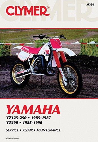 9780892876099: Clymer Yamaha Yz125-250, 1985-1987: Yz490, 1985-1990