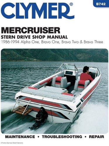 9780892876556: Clymer Mercruiser Stern Drive Shop Manual : 1986-1994, Alpha One, Bravo One, Bravo Two & Bravo Three