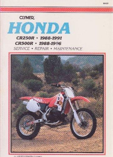 9780892876822: Honda CR250R and CR500R, 1988-1996: Clymer Workshop Manual