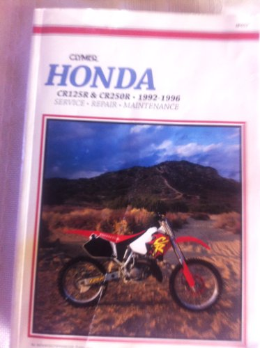9780892876945: Honda CR125R, CR250R 1992-1996: Clymer Workshop Manual