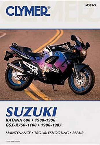 9780892877720: Clymer Suzuki Katana 600 1988-1996, Gsx-R750-1100, 1986-1987