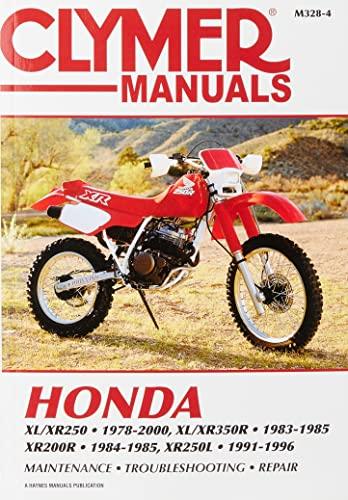 9780892878215: Honda XL/Xr250 1978-2000, XL/Xr350r 1983-1985, Xr200r (Clymer Motorcycle Repair)