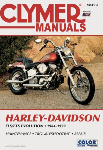 9780892878451: Clymer Harley-Davidson: FLS/FXS Soft Tail Big-Twin Evolution 1984-1999