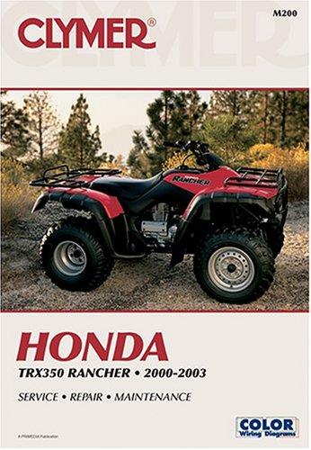 9780892878505: Honda Trx350 Rancher 2000-2003 (Atv)
