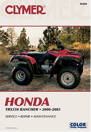 Honda Trx350 Rancher 2000-2003 (Atv): Clymer Publications