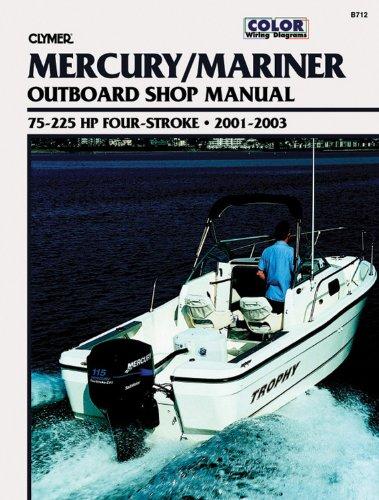 9780892878765: Mercury/Mariner Outboard Shop Manual: 75-225 Hp Four-Stroke, 2001-2003