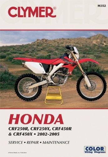 9780892879281: Honda CRF250R, CRF250X, CRF450R & CRF450X, 2002-2005 (Clymer Motorcycle Repair)