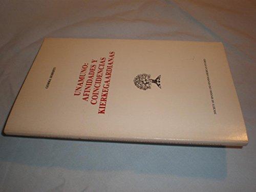 9780892950416: Unamuno: Afinidades Y Coincidencias Kierkegaardianas