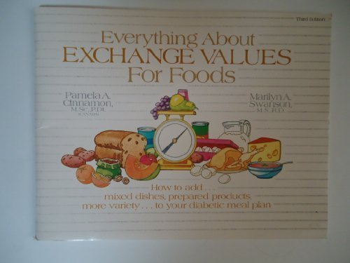 9780893010836: Everything About Exchange Values for Foods: How to Add...Mixed Dishes, Prepared Products, More Variety...to Your Diabetic Meal Plan