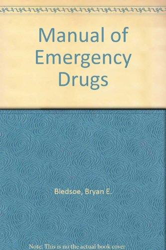 9780893036478: Manual of Emergency Drugs