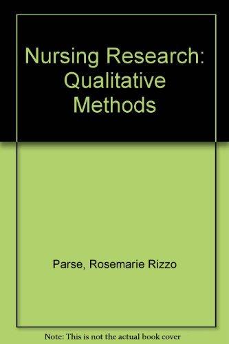 9780893037246: Nursing Research: Qualitative Methods