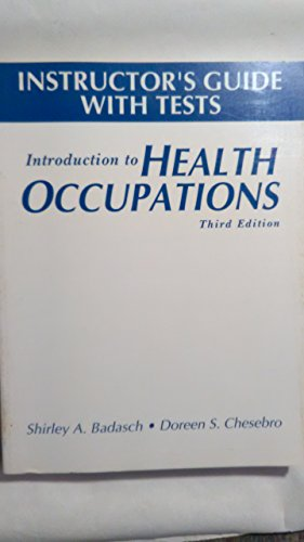 9780893038526: Sm Intro Health Occupations I/