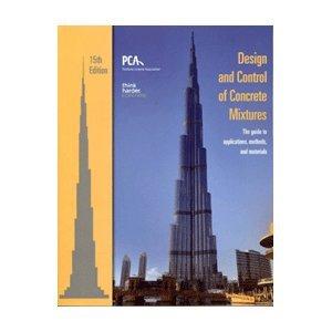 9780893122720: Design and Control of Concrete Mixtures