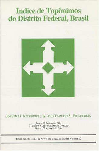 Indice De Toponimos Do Distrito Federal, Brasil: Joseph H., Jr.