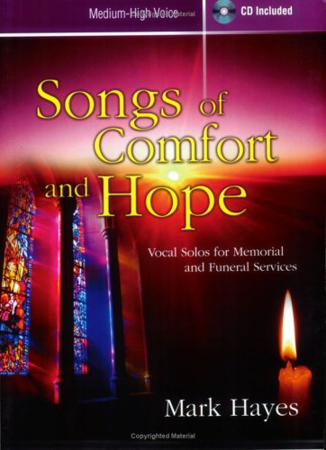 9780893287382: Songs of Comfort and Hope: Vocal Solos for Memorial and Funeral Services (Medium-High Voice; CD Included)