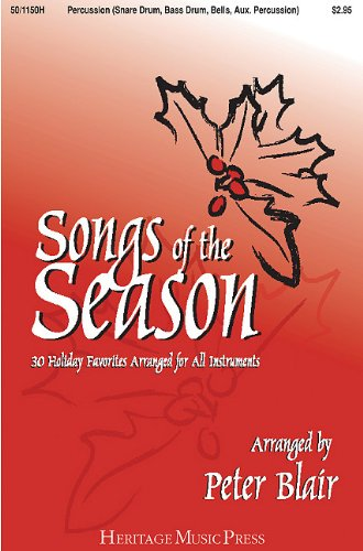9780893287788: Songs of the Season - Percussion (Sd, Bd, Bells, Aux. Perc.): 30 Holiday Favorites Arranged for All Instruments