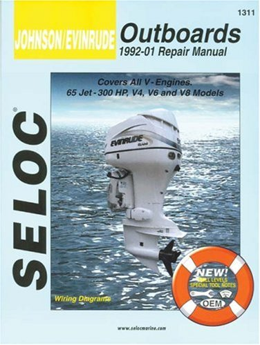 9780893300630: Johnson/Evinrude Outboards 1992-01 Repair Manual: All V-Engines, 65-300 HP