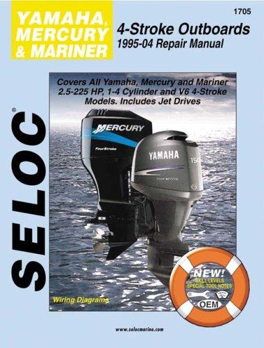 9780893300661: Yamaha, Mercury, & Mariner Outboards, All 4 Stroke Engines, 1995-2004 (Seloc Marine Manuals)