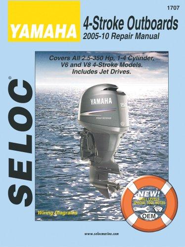 9780893300807: Yamaha 4-Stroke Engines 2005-10 Repair Manual: 2.5 - 350 HP, 1-4 Cylinder, V6 & V8 Models