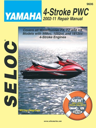 9780893300821: Yamaha Personal Watercraft 2002-11 Repair Manual: All 4-Stroke Models