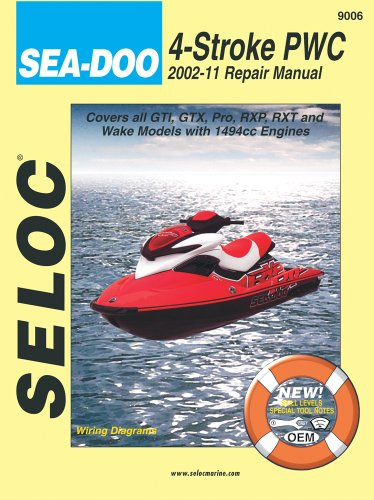 9780893300838: Sea-Doo Personal Watercraft, 2002-11 Repair Manual All 4-Stroke Models