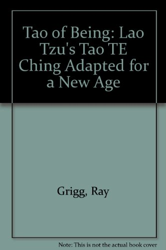 9780893342029: The Tao of Being: Lao Tzu's Tao Te Ching Adapted for a New Age