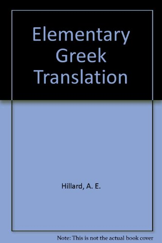 9780893416317: Elementary Greek Translation