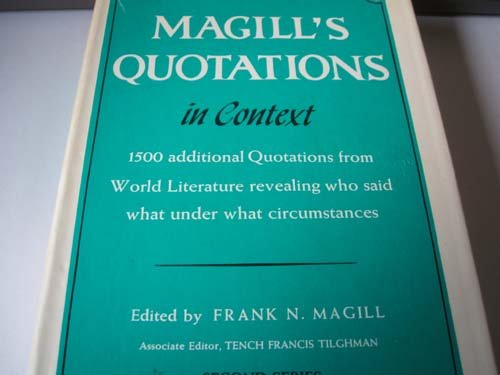 9780893561369: Magill's Quotations in Context, Second Series