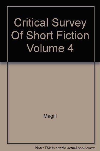 9780893562144 - Magill: Critical Survey Of Short Fiction Volume 4 - Libro