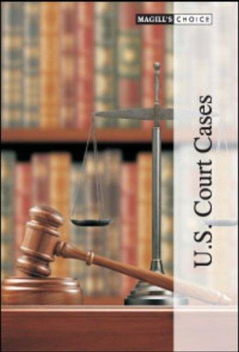 U.S. Court Cases (Magill's Choice): Salem Press