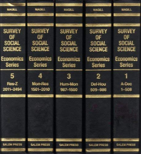 9780893567255: Survey of Social Science (Economics Series)