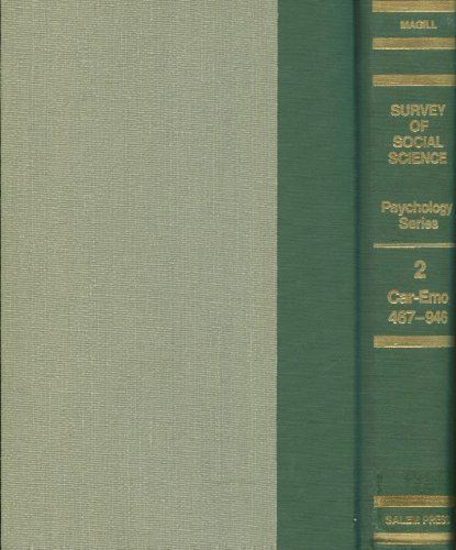 9780893567323: Survey of Social Science (Psychology Series)