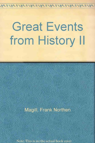 9780893568085: Great Events from History II: 1