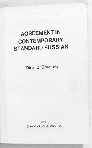 Agreement in contemporary standard Russian: Dina B Crockett