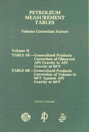 9780893640231: Petroleum Measurement Tables (Volume Correction Factors) Volume 2