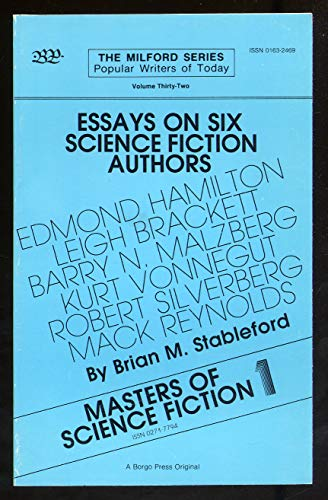 9780893702472: Masters of Science Fiction: Essays on Science-Fiction Authors