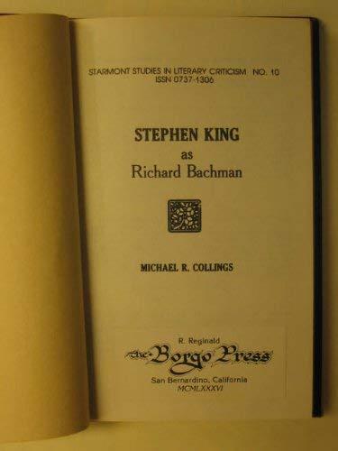 Stephen King As Richard Bachman: Collings, Michael R.
