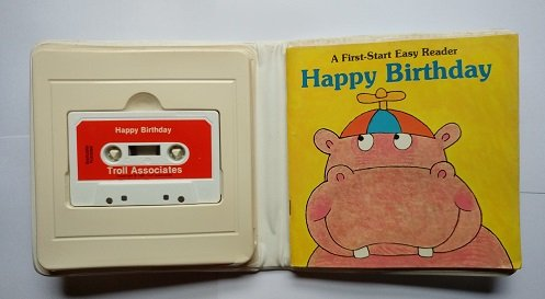 Happy Birthday, A First-Start Easy Reader, book and cassette: Peters, Sharon, Harvey, Paul, ill.,