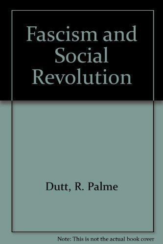 9780893800147: Fascism and Social Revolution