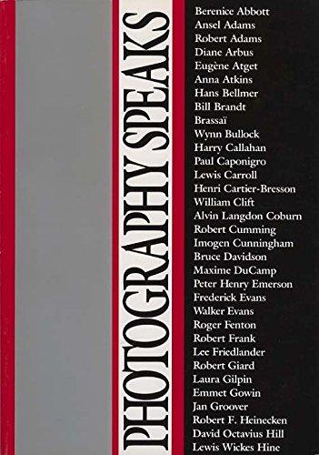 9780893813550: Photography Speaks : 66 Photographers on Their Art (Vol 1)