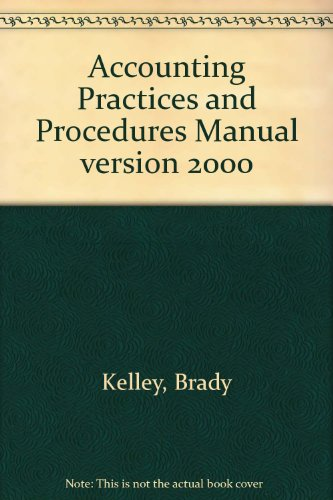 9780893826536: Accounting Practices and Procedures Manual version 2000