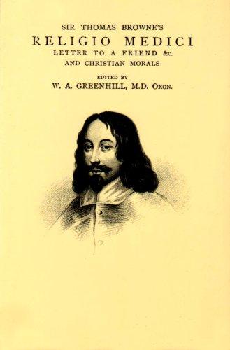SIR THOMAS BROWNE'S RELIGIO MEDICI: EDITED BY W.