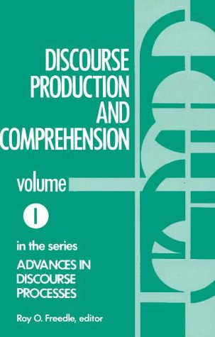 9780893911287: Discourse Production and Comprehension (Advances in Discourse Processes)