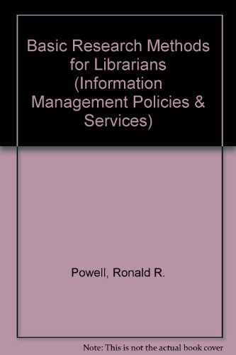 Basic research methods for librarians pdf