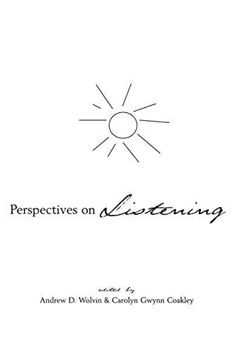 9780893919252: Perspectives on Listening (Communication and Information Science)