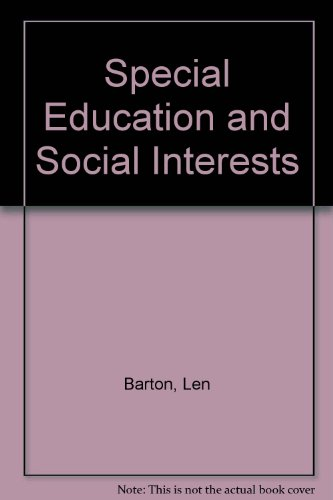 9780893971946: Special Education and Social Interests