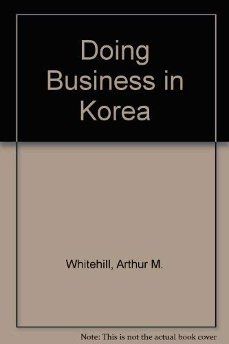 9780893972769: Doing Business in Korea