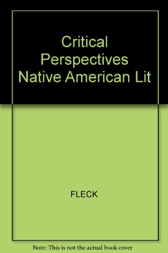 9780894107009: Critical Perspectives Native American Lit