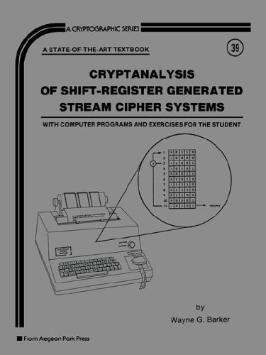 9780894120626: Cryptanalysis of Shift Register Generated Stream Cipher Systems (Cryptographic Series)